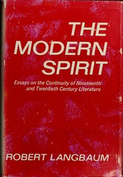Cover of: The modern spirit | Robert Woodrow Langbaum