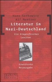 Cover of: Literatur in Nazi-Deutschland | Hans Sarkowicz