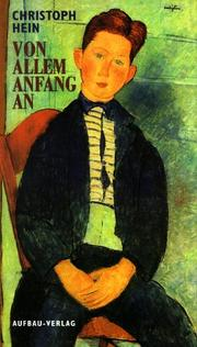 Cover of: Von allem Anfang an