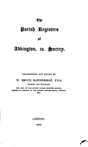 Cover of: The Publications of the Surrey Parish Register Society | Surrey Parish Register Society