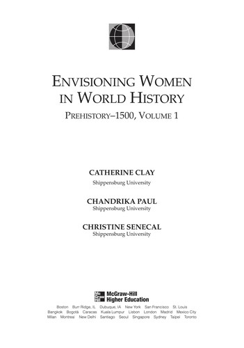 Envisioning Women in World History: Prehistory to 1500 (Explorations in World Hi