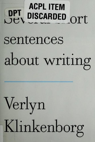 Image 0 of Several Short Sentences About Writing