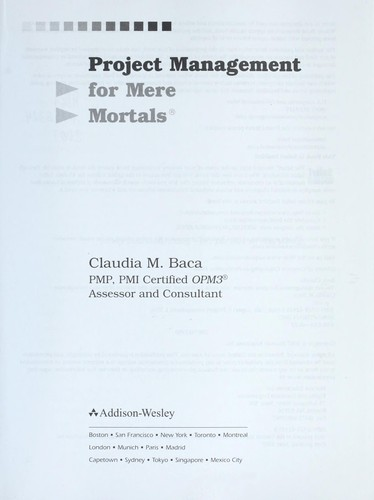 Image 0 of Project Management for Mere Mortals