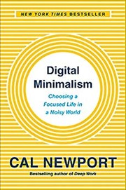 Book cover for Digital Minimalism by Cal Newport