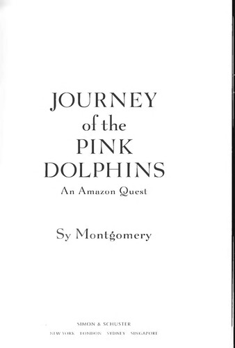 Image 0 of Journey of the Pink Dolphins: An Amazon Quest