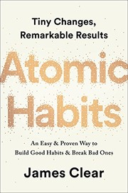 Book cover for Atomic Habits by James Clear