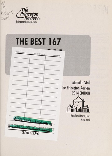 Image 0 of The Best 167 Medical Schools, 2014 Edition (Graduate School Admissions Guides)
