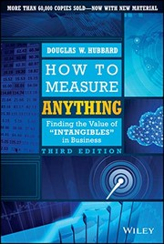 Book cover for How to Measure Anything by Douglas W. Hubbard