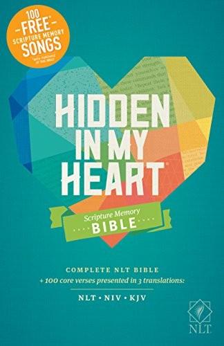 Hidden in My Heart Scripture Memory Bible NLT (Hardcover)