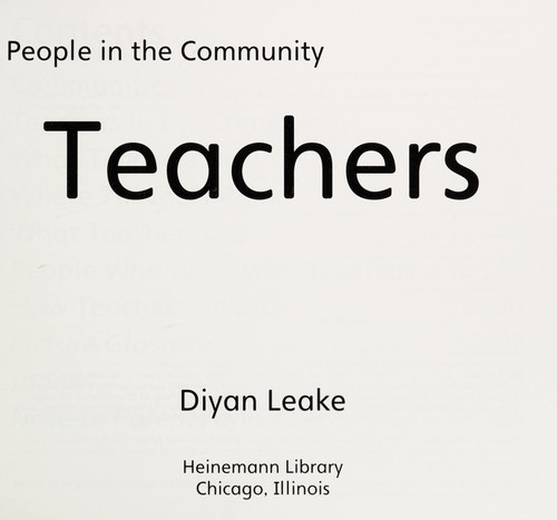 Image 0 of Teachers (People in the Community)