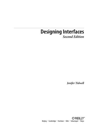 Image 0 of Designing Interfaces: Patterns for Effective Interaction Design