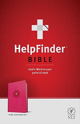 Image 0 of HelpFinder Bible NLT (Red Letter, LeatherLike, Pink): God's Word at Your Point