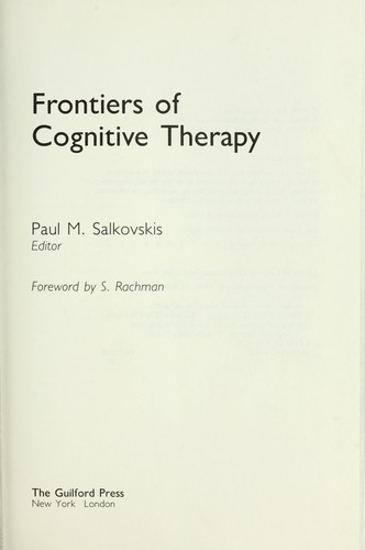 Image 0 of Frontiers of Cognitive Therapy