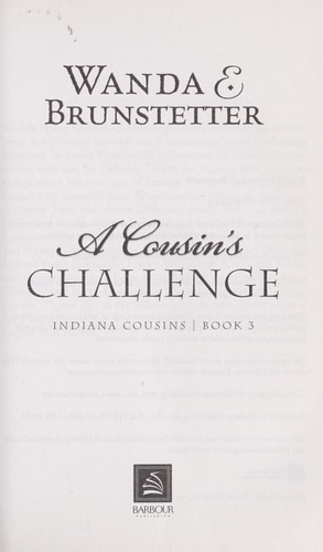 A Cousin's Challenge (Indiana Cousins, Book 3)
