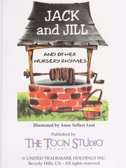 Jack and Jill and other nursery rhymes /