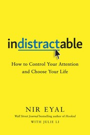 Book cover for Indistractable by Nir Eyal