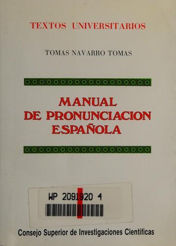 Libro de segunda mano: Manual de pronunciación española