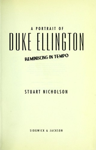 Libro de segunda mano: A portrait of Duke Ellington