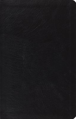 ESV Large Print Gen Leather Black Thinline Reference Bible