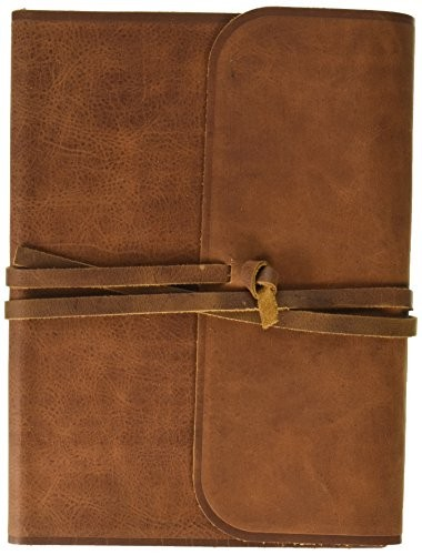 ESV Holy Bible Sg Col Journaling Lg Pr Natural Leather Brown flap with strap
