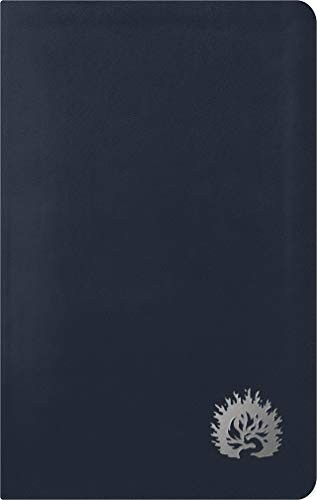 Holy Bible Reformation Study ESV Condensed Edition Navy Leather LIke