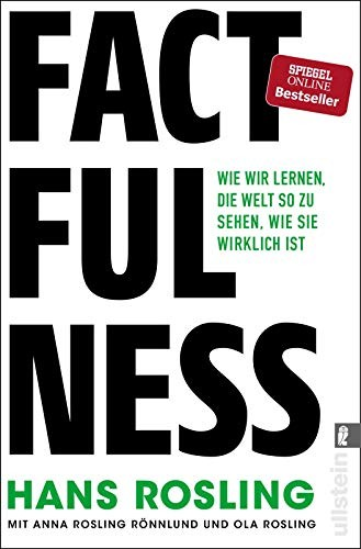"Book cover of ""Factfulness"" by Hans Rosling"
