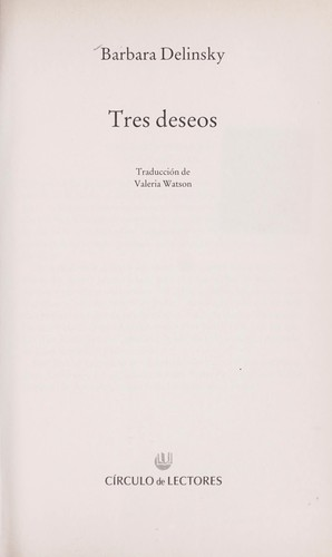 Libro de segunda mano: Tres deseos