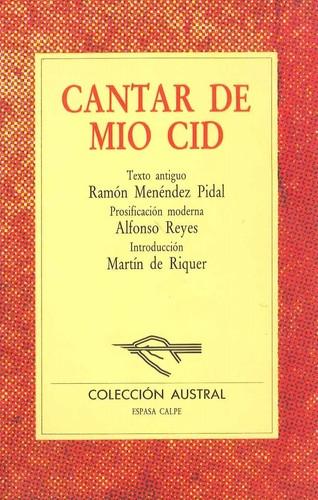 Libro de segunda mano: Cantar de mio Cid