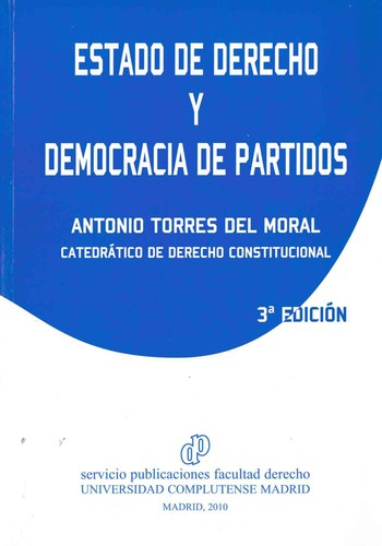 Libro de segunda mano: Estado de derecho y democracia de partidos