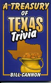 Cover of: A treasury of Texas trivia