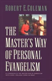 Cover of: The Master's way of personal evangelism