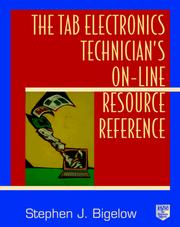 Cover of: The TAB electronics technician's on-line resource reference