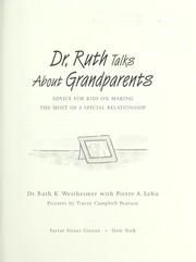 Cover of: Dr. Ruth talks about grandparents