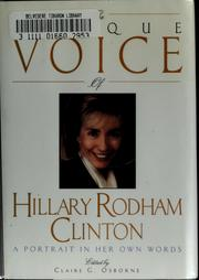 Cover of: The unique voice of Hillary Rodham Clinton