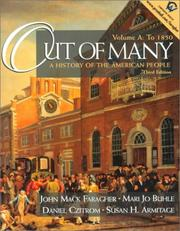 Cover of: Out of Many: A History of the American People, Volume A