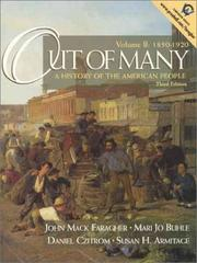 Cover of: Out of Many: A History of the American People, 3rd edition - Volume B