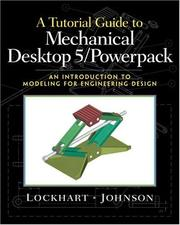 Cover of: Tutorial Guide to Mechanical Desktop 5 Powerpack, A