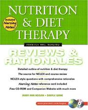 Cover of: Nutrition and Diet Therapy