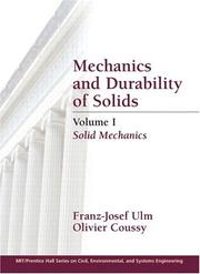 Cover of: Mechanics and Durability of Solids, Volume I