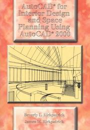 Cover of: AutoCAD for Interior Design and Space Planning Using AutoCAD 2000