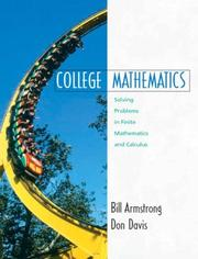 Cover of: College Mathematics