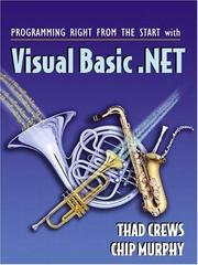 Cover of: Programming Right From the Start with Visual Basic.NET and Student CD Package