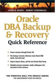 Cover of: Oracle DBA Backup and Recovery Quick Reference (The Prentice Hall Ptr Oracle Series)