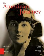 Cover of: American Journey, Teaching and Learning Classroom Edition, Volume 2, Chapters 16-31, The (3rd Edition)