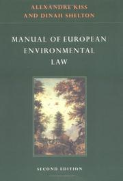 Cover of: Manual of European environmental law