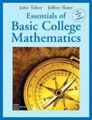 Cover of: Essentials of Basic College Mathematics (Tobey/Slater Wortext Series)