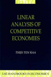 Cover of: Linear Analysis of Competitive Economics