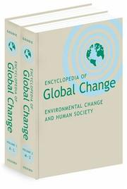 Cover of: Encyclopedia of global change