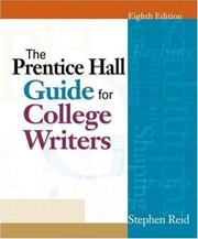 Cover of: Prentice Hall Guide for College Writers, The