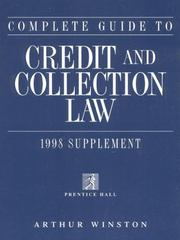 Cover of: Complete Guide to Credit and Collection Law 1998 Supplement